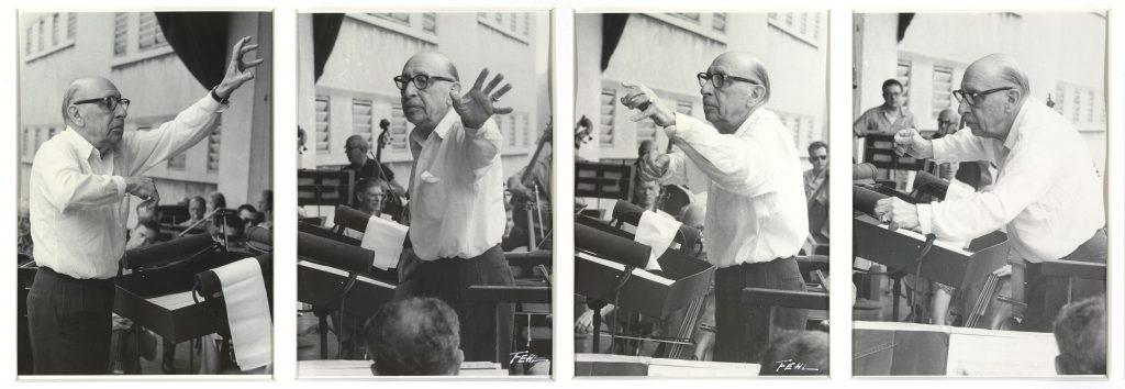 Igor Stravinski conducting